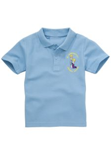 Sky Polo Shirt - With St Bernadettes RC PS Logo