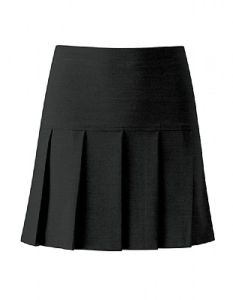 Girls Black Charleston Pleated Skirt