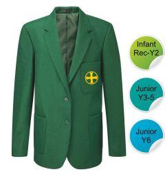 Junior Girls Blazer - Embroidered with Durham High School Logo