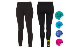 Black Leggings - for Durham High School - Printed with DHS