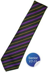 Booth House Tie - Purple Stripe - for Durham High School