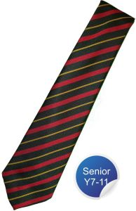 Neville House Tie - Red Stripe - for Durham High School