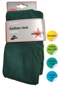 Green Cotton Tights (2pk) - for Durham High School