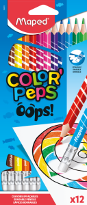 Maped Oops colour pencils packs of 12