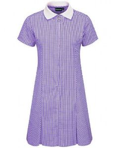 Purple Gingham Dress - Plain (No Logo)