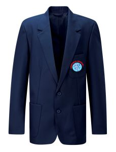 Navy Boy's Blue Blazer - Embroidered with Benfield School Logo