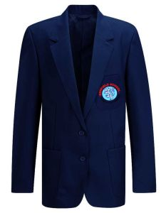 Navy Girls's Blue Blazer - Embroidered with Benfield School Logo