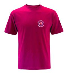 Red PE T-Shirt - Embroidered with Wallsend St Peters CofE Primary School Logo