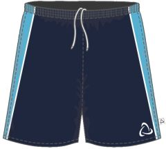 Navy/Sky PE Shorts - for Benfield School