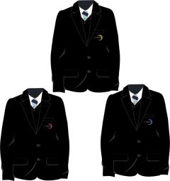 Boys Black Blazer - Embroidered with Walker Riverside Academy logo