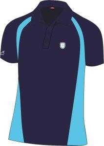 Standard PE Navy/Cyclone Akoa Polo Top - Embroidered with Ashington Academy Logo