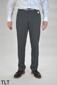Charcoal Grey Boys Slim Leg Trousers (TLT) - Embroidered with Ashington Academy School Logo