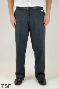 Grey Boys Sturdy Fit Trouser (TSF)- Embroidered with Ashington Academy School Logo