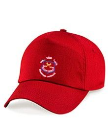 Red Cap Hat - Embroidered with Wallsend St Peters CofE Primary School Logo