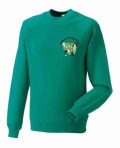 Jade Bailey's Butterflies Sweatshirt - Embroidered with Bailey Green Butterflies logo