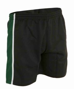 PE Shorts - Black/Emerald/White  - for Bailey Green Primary School