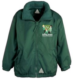 Bottle Green Shower Proof Jacket - Embroidered With Bailey Green Primary School Logo