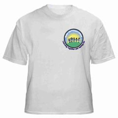 White PE T-Shirt (Crew Neck) - Embroidered With Battle Hill Primary School Logo