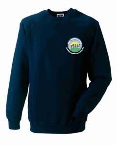 Navy Sweatshirt (Crew Neck) - Embroidered With Battle Hill Primary School Logo