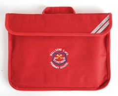 Red Book Bag - Embroidered with Wallsend St Peters CofE Primary School Logo