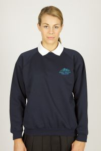 Navy Sweatshirt - Embroidered with Hope Valley College logo