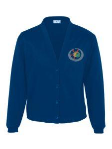 Navy Sweat Cardigan - Embroidered with Benton Dene logo