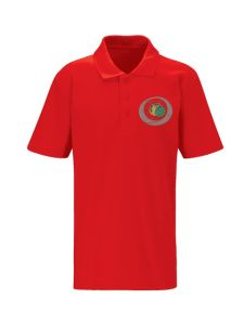 Red Polo (Years 3 + 4) - Embroidered with Benton Dene logo