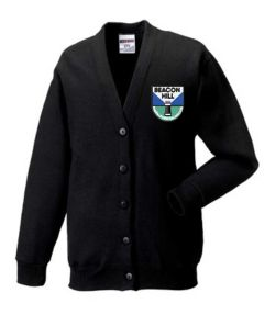 Black Cardigan - Embroidered With Beacon Hill School Logo