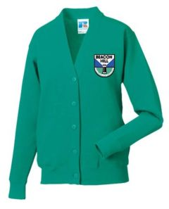 Jade Cardigan - Embroidered With Beacon Hill School Logo