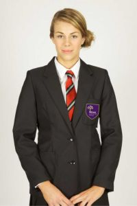 Black Blazer - Fitted - Embroidered with Belmont Community School logo