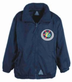 Navy Mistral Shower Proof Jacket - Embroidered With Benton Dene Primary School Logo