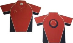 Red/Navy PE Polo - Printed with Benton Dene Sports School Logo on back
