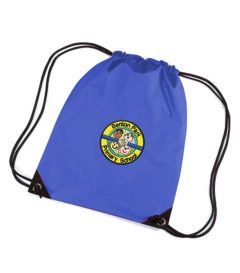 Royal PE Bag - Embroidered with Benton Park Primary School logo