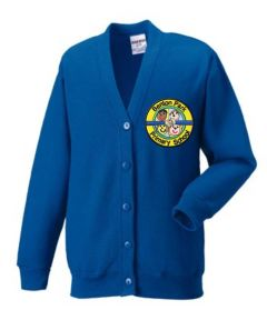 Royal Sweat Cardigan - Embroidered with Benton Park Primary School logo