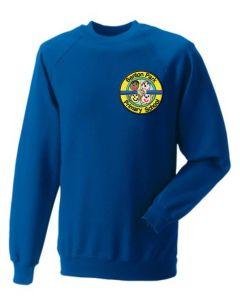 Royal Sweatshirt - Embroidered with Benton Park Primary School logo