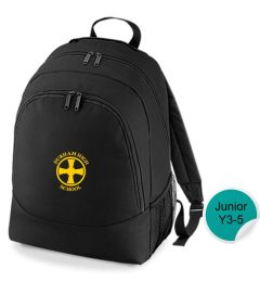 Gym Bag Black Rucksack - Embroidered with Durham High School Logo