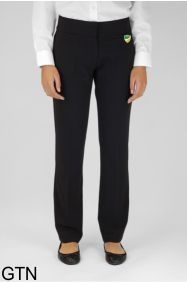 Black Senior Girls Twin Pocket Trouser (GTN) - Embroidered with Bedlington Academy School Logo