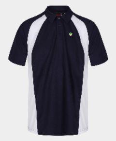 Standard PE Black/White Akoa Polo Top - Embroidered with Bedlington Academy School Logo