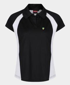 Girls PE Black/White Akoa Polo Top - Embroidered with Bedlington Academy School Logo
