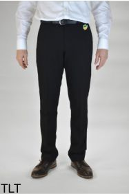 Boys Black Slim Leg Trousers (TLT) - Embroidered with Bedlington Academy School Logo