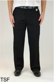 Boys Black Sturdy Fit Trouser (TSF)- Embroidered with Bedlington Academy School Logo