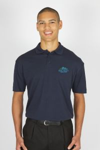 Navy Polo - Embroidered with Hope Valley College logo