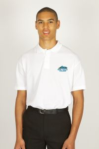 White Polo - Embroidered with Hope Valley College logo