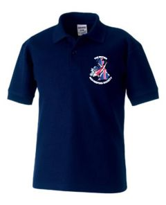 Navy Polo Shirt - Embroidered with BKKS Logo