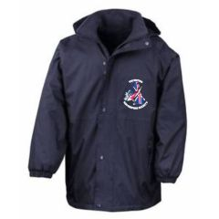 Navy Stormproof Coat - Embroidered With BKKS Logo