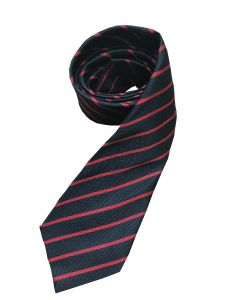 """Black/Red 52"""" Standard School Tie for Christ's College, Sunderland (Essential for male students in Years 9 to 11)"""