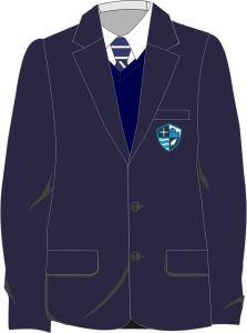 Boys Blazer - Embroidered with Hermitage Academy Logo