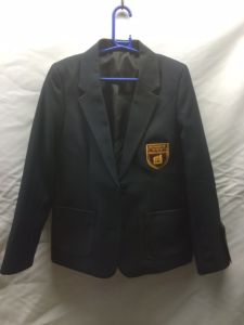 Navy/Maroon Girls Blazer - Embroidered with Kings Priory School Logo