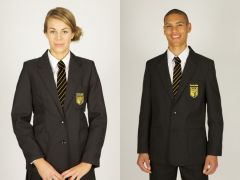 Black Blazer - (Available in Boys or Girls) with Embroidered Parkside Academy logo