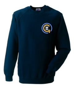 Blue Logo - Navy Sweatshirt - Embroidered with Jesmond Park Academy Logo